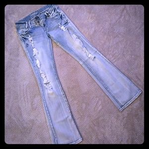 ♥SALE♥NEW! Amethyst Factory Destroyed Jeans